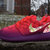 Nike Roshe Run Laser Crimson Grape Ombre Rose Garden Floral Print Custom Womens