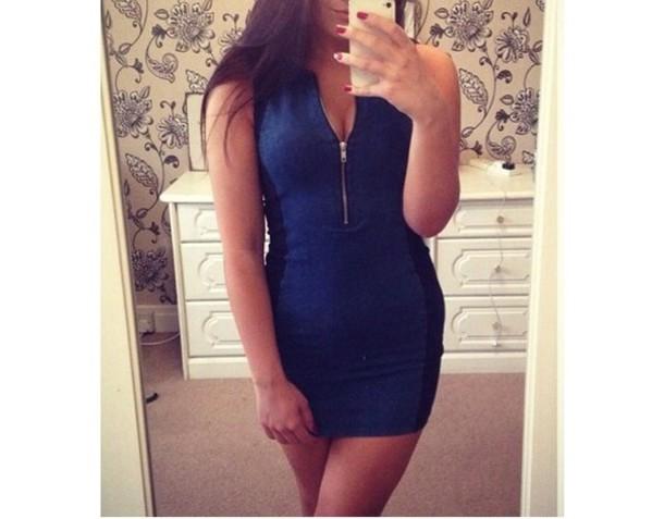 2c4f1a75188f zip bodycon mini dress mini blue dress zip zip front zip up bodycon dress