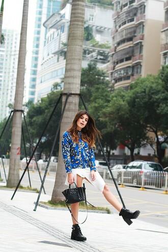 dulceida blogger sweater bag asymmetrical ankle boots