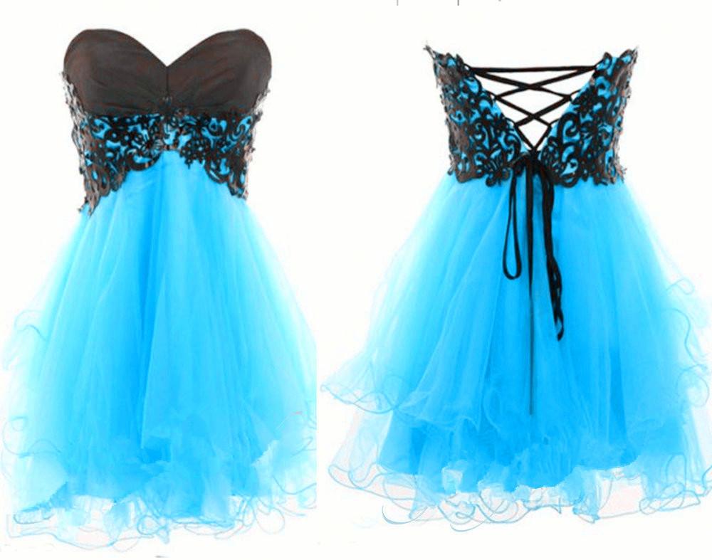 Cute strapless dress blue / ianlaynedesigns
