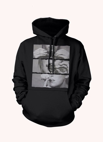 jacket hoodie black blunt cute hoodie weed smoking lips smoke, bomb, tee, tshirt, baggy tshirt, girl, print,