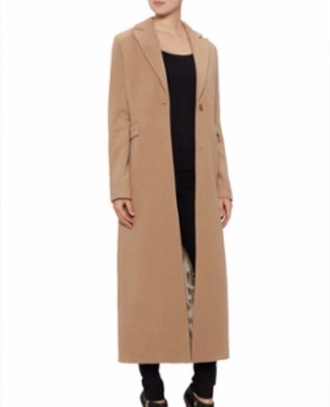 coat black caramel winter outfits brown long long coat jacket