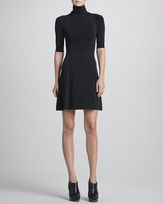 ALC Manivet Open-Back Turtleneck Dress - Neiman Marcus