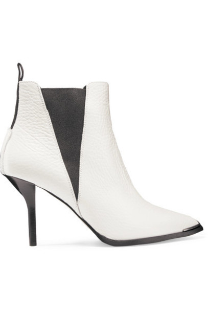 Acne Studios - Jemma Textured-leather Ankle Boots - White