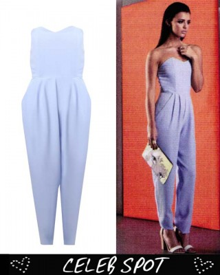 LOVE Powder Blue Strapless Jumpsuit - In Love With Fashion