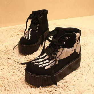 shoes goth shoes gothic shoes goth skeleton skeleton shoes black