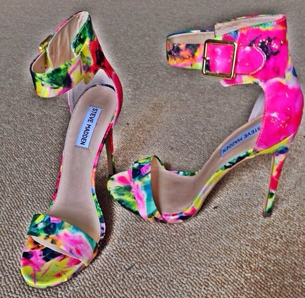 shoes colorful sandals heels pumps spring