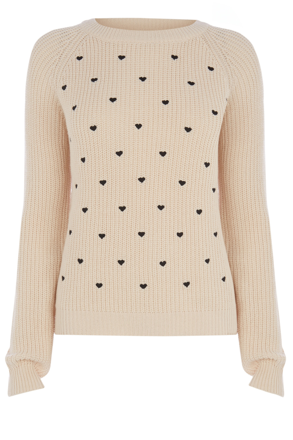 Knitwear | Natural Heart Embroidered Jumper | Oasis