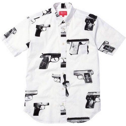 Supreme Guns Shirt White XL Box Logo 2012 Safari Camp Cap Kate Moss s s 13   eBay