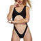 Black sexy ladies crop halter cut out monokini