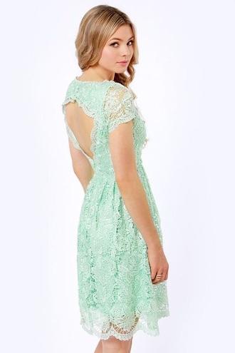 dress mint dress lace