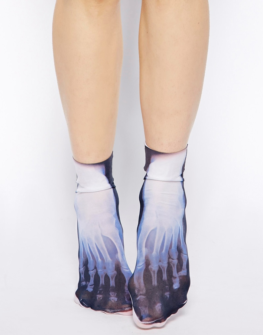 ASOS X-ray Feet Ankle Socks at asos.com