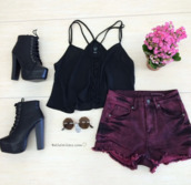 dyed,purple,two coloured shorts,dyed shorts,style,girly,outfit,summer outfits,shorts