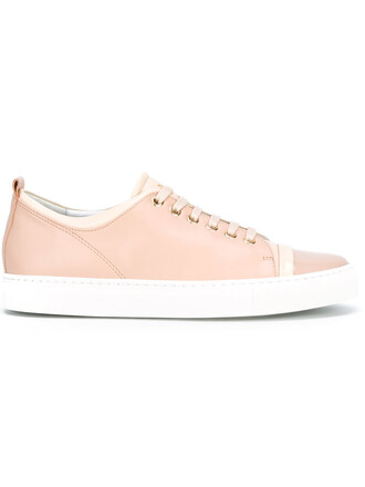 women sneakers leather purple pink shoes