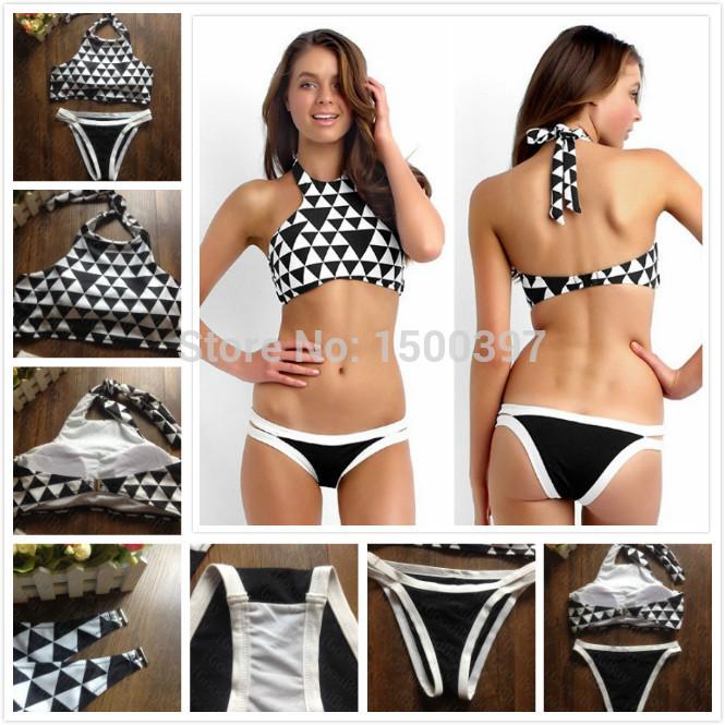 Aliexpress.com : buy 2015 new arrival nylon high quality high neck bikini women sexy brazilian swimwear triangle bandage seafolly swimwear biquini from reliable bikini wearing suppliers on igoodbuy