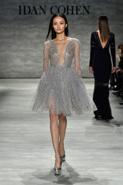 dress sequins gown fashion week 2015