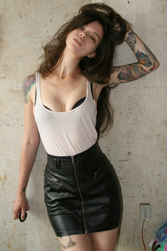 skirt black zip leather dark fashion miniskrt found on tumblr