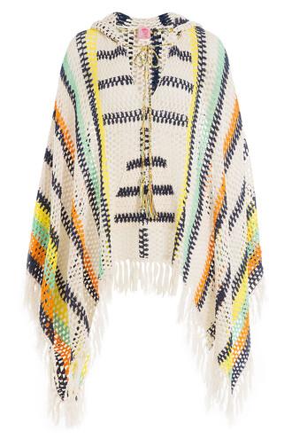poncho crochet multicolor top