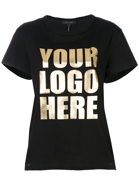 Marc Jacobs - Your Logo Here T-shirt - women - Cotton - L, Black, Cotton