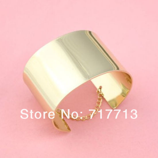 2013 New Fashion 18k Gold Plated Casual Texture of Metal Exaggerated Personality Smooth Cuff Bracelets Bangle for Women Ladies-in Special Store from Jewelry on Aliexpress.com