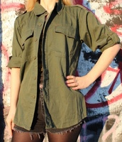 jacket,olive green,military style,army style jacket