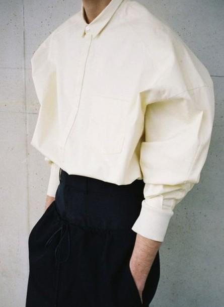 shirt oversized oversized t-shirt cream color