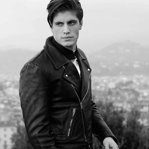 jacket lvr: black hypebeast biker jacket menswear black leather leather jacket rock europe Luisaviaroma firenze4ever
