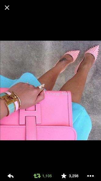 skirt purse stilletoes