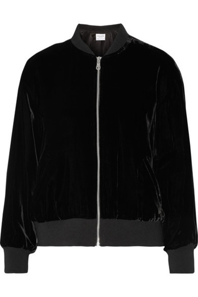 Frame - Le Velvet Bomber Jacket - Black