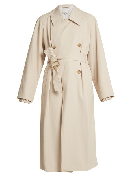 Tibi coat trench coat beige
