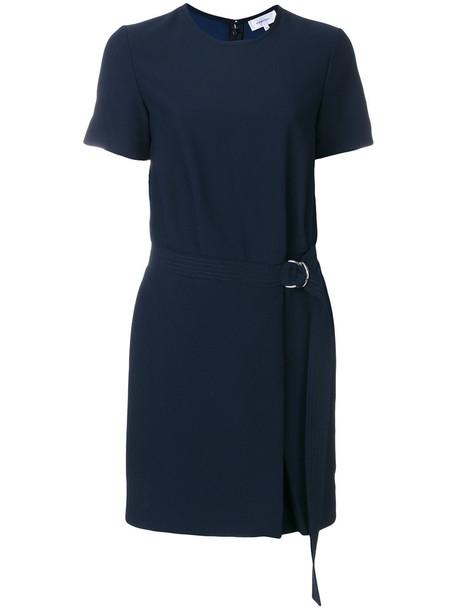 dress belted dress women blue