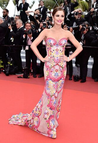 dress gown floral long prom dress prom dress cannes red carpet dress red carpet cheryl cole bustier dress