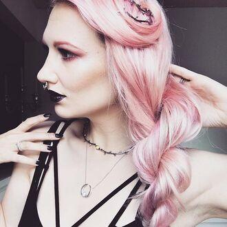 jewels shop dixi pearl moon necklace boho bohemian grunge goth