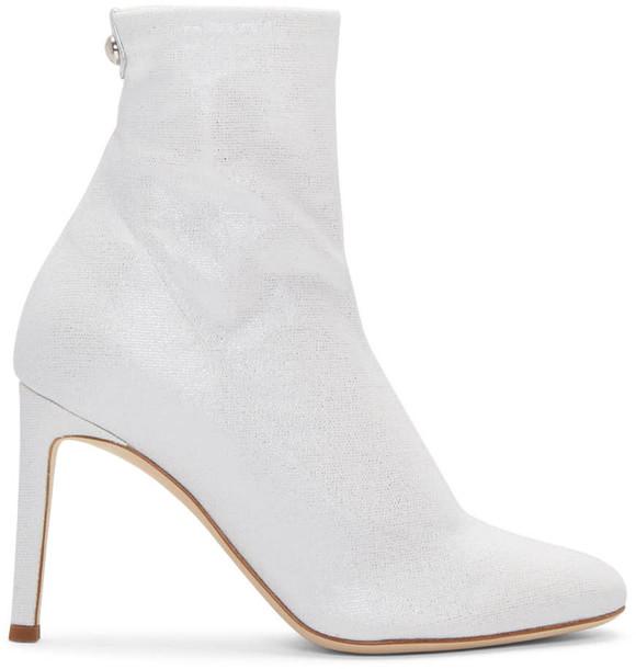 Giuseppe Zanotti sock boots silver shoes