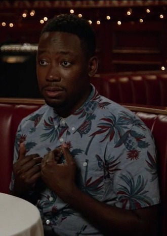 shirt lamorne morris new girl winston bishop print menswear palms