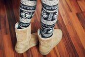 christmas fantasy,christmas,ugg boots,leggings,christmas leggings