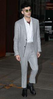 jacket,blazer,grey,grey blazer,menswear,mens blazer,mens suit,pants,zayn malik