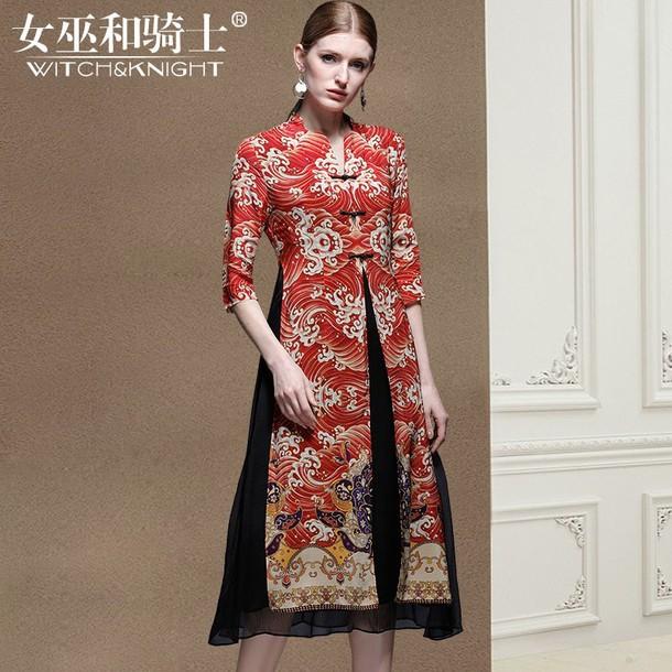 dress ethnic twin-set mulberry silk