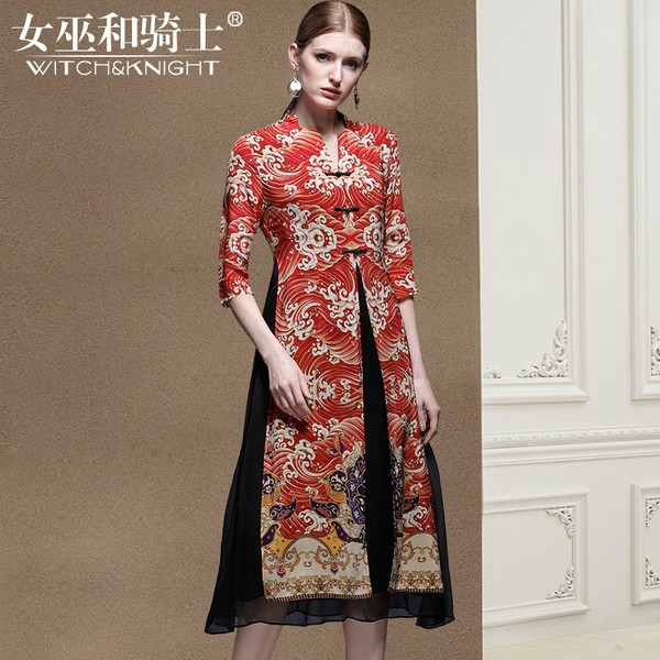 dress ethnic twin-set mulberry silk