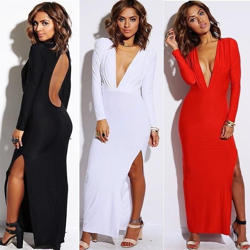 Neck long sleeve maxi split dress · summah breeeze · online store powered by storenvy