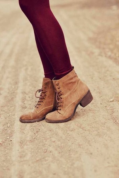 shoes brown fall outfits fall outfits girly black combat boots boots tan cute vintage ankle boots cute shoes fall outfits cute boots