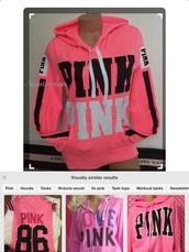 sweater,pink,victoria's secret,hoodie