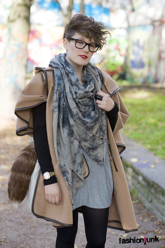 jacket brown coat fashion junk cape