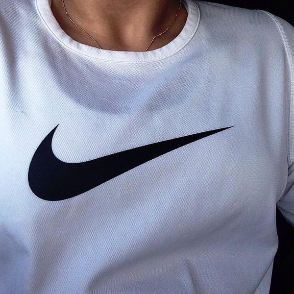Shirt Adidas Nike Tumblr Sportswear Nike Shirt Girl