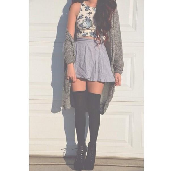 dress skater skirt summer outfits loveit needit skirt top blouse bold floral cute girly summer outfits summer