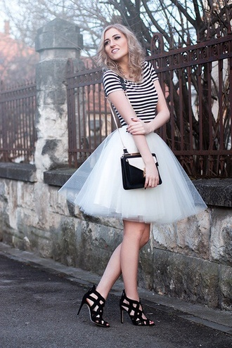 skirt tutu top stripes tulle skirt