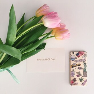 phone cover yeah bunny cute tulips alone transparent america usa new york city iphone cover iphone case iphone