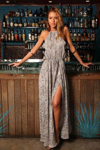 dress maxi print