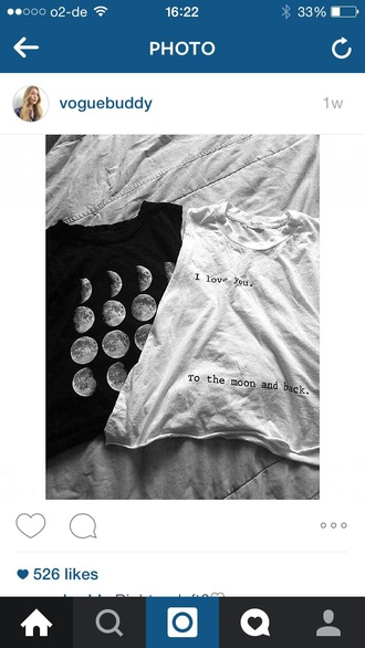 shirt trendy white crop tops black crop top i love you to the moon and back shirt moon phases