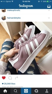 shoes,lavender,low top sneakers,adidas superstars